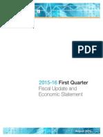 2015-16 1st Quarter Fiscal Update