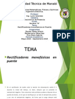 Exposicion Rectificador Monofasico Puente