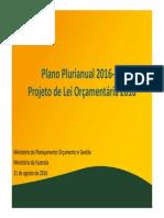 Projeto de Lei Orçamentária 2016