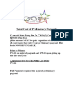 Preliminary Pageant Costs