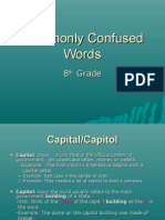 8th Commonly Confused Words Revised