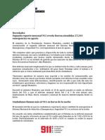Informe Mensual del Sistema Nacional de Atención a Emergencias y Seguridad 911-Agosto de 2015
