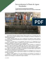 22.12.2013 Comuniado Anuncia Esteban Modernizar La Planta de Aguas Residuales
