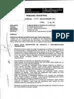 Sunarp Autenticidad y Fabrica 1290 2014 Sunarp Tr l