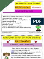 Common Core State Standards Kindergarten Math