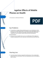 The Negetive Effects of Mobile Phones on Health