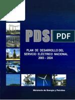 PDSEN-Plan de Desarrollo de Desarrollo Del Servicio Eléctrico Nacional 2005-2024