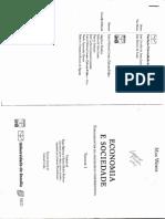WEBER, Max. Economia e a Sociedade. Vol. 1. Cap. 1