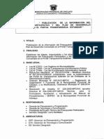 027a02_procedimiento Publicacion de La Inform. Del Presup. Particip. y Del Plan de Desarrollo