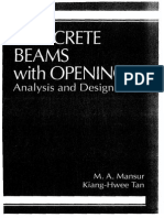 Concrete Beams With Openings Analysis and Design