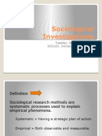 Lecture #3 - Sociological Investigations UPDATED