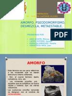 CRISTALOQUÍMICA Amorfo