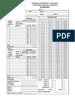 FIBA Scoresheet