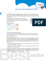 How salesforce.com uses Salesforce CRM in marketing