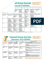September 2015 Tazewell Group Exercise