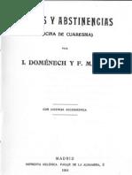 Ayunos y cia Cocina de Cuaresma.domenech y F. Marti (1914)