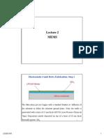 Lecture 2 MEMS