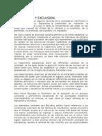 Eliminacion y Exclusion - Bourdieu
