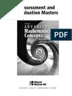 Advanced Math Cocepts Evaluation