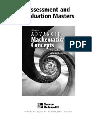 Advanced Math Cocepts Evaluation | Fraction (Mathematics