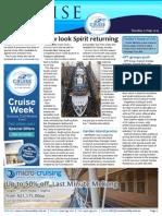 Cruise Weekly for Tue 01 Sep 2015 - Spirit homeward bound, APT groups, AmaDara, Trade Incentive, Azamara app, Cunard and much more