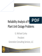 Reliability Analysis of Power Plants