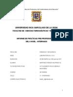 Informe de Practicas II Nivel