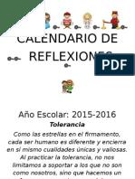 Calendario de Reflexiones 2015-16 Mejorado