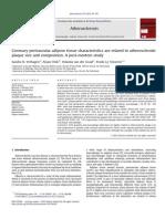 Coronary Perivascular Adipose Tissue Characteristics Are Related to Atherosclerotic
