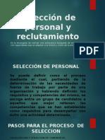 Selección de Personal y Reclutamiento