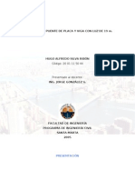 DISEÑO DE UN  PUENTE DE LOSA Y VIGA CON LUZ DE 19 m