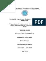 """""""Propuesta Para La Implementación de La Metodología de Mejora 5s en Una Línea de Producción de Panes de Molde"""""""