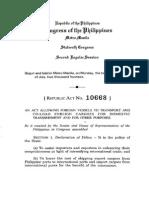 RA 10668 - Cabotage Law