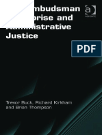 Trevor Buck, Richard Kirkham, Brian Thompson-The Ombudsman Enterprise and Administrative Justice (Election Law, Politics, And Theory) -Ashgate (2011)