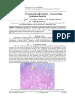 NON-Specific Granulomatous Prostatitis –Masquerading Carcinoma Prostate
