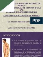 anestesia en  cirugia de aorta
