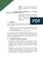 2. DENUNCIA POR FALSIFICACION DE FIRMA Y USO DE DOCUMENTO FALSO. LUIS QUISPE.docx