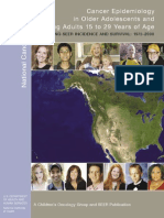 Cancer Epidemiology in Older Adolescents & Young Adult 15-29 Years of Age
