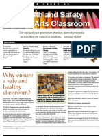 Health and Safety in the Arts Classroom