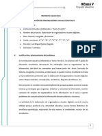 PROYECTO EDUCATIVO - Organizadores Visuales