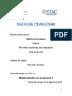 filosofia y sociologia de la educacion