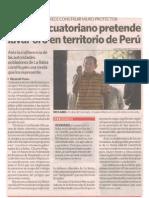 Minero ecuatoriano pretende lavar oro en territorio de Perú - La República - 27/01/2010