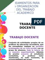 Lineamientos Para La Organización Del Trabajo Academico