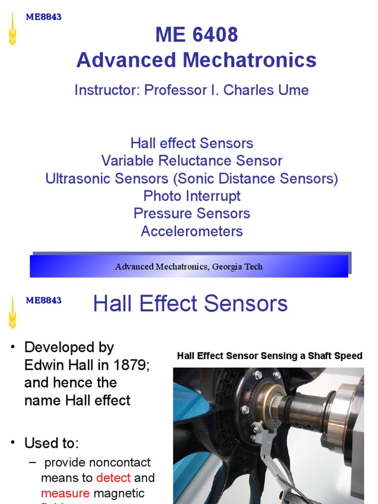 Transducers And Sensors Ultrasound Accelerometer Hall Effect Sensor We Will Use In This Circuit Is An A1302