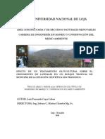 Efecto de Un Tratamiento Silvicultural Sobre El Cremiento de Latizales en Un Bosque Tropical de Montaña de La Estación Científica San Francisco