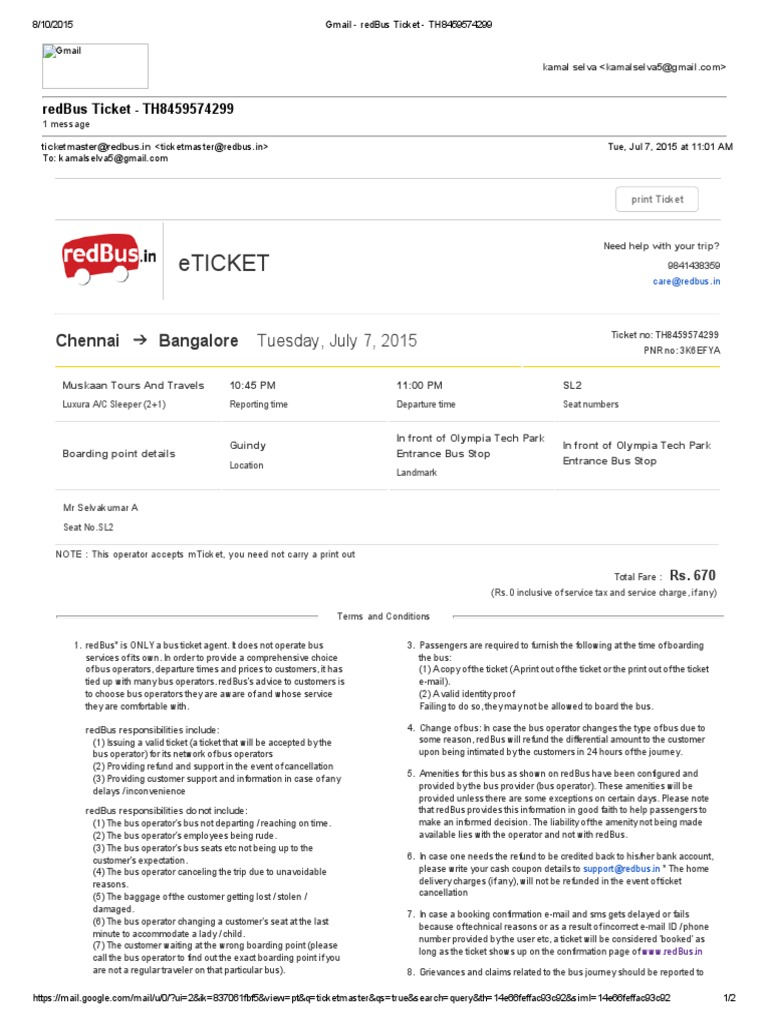 Redbus Ticket Print Apsrtc Official Website for Online Bus Ticket – Redbus Ticket Print