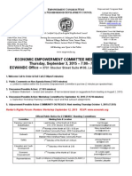 ECWANDC Economic Empowerment Committee Meeting Agenda - September 3, 2015