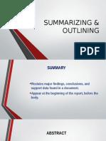 Lec 5-Summirizing and Outlining