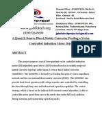 A Quasi-Z-Source Direct Matrix Converter Feeding a Vector