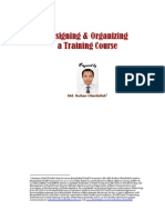 Designing & Organizing a Training Course